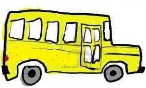 żółty bus rysunek